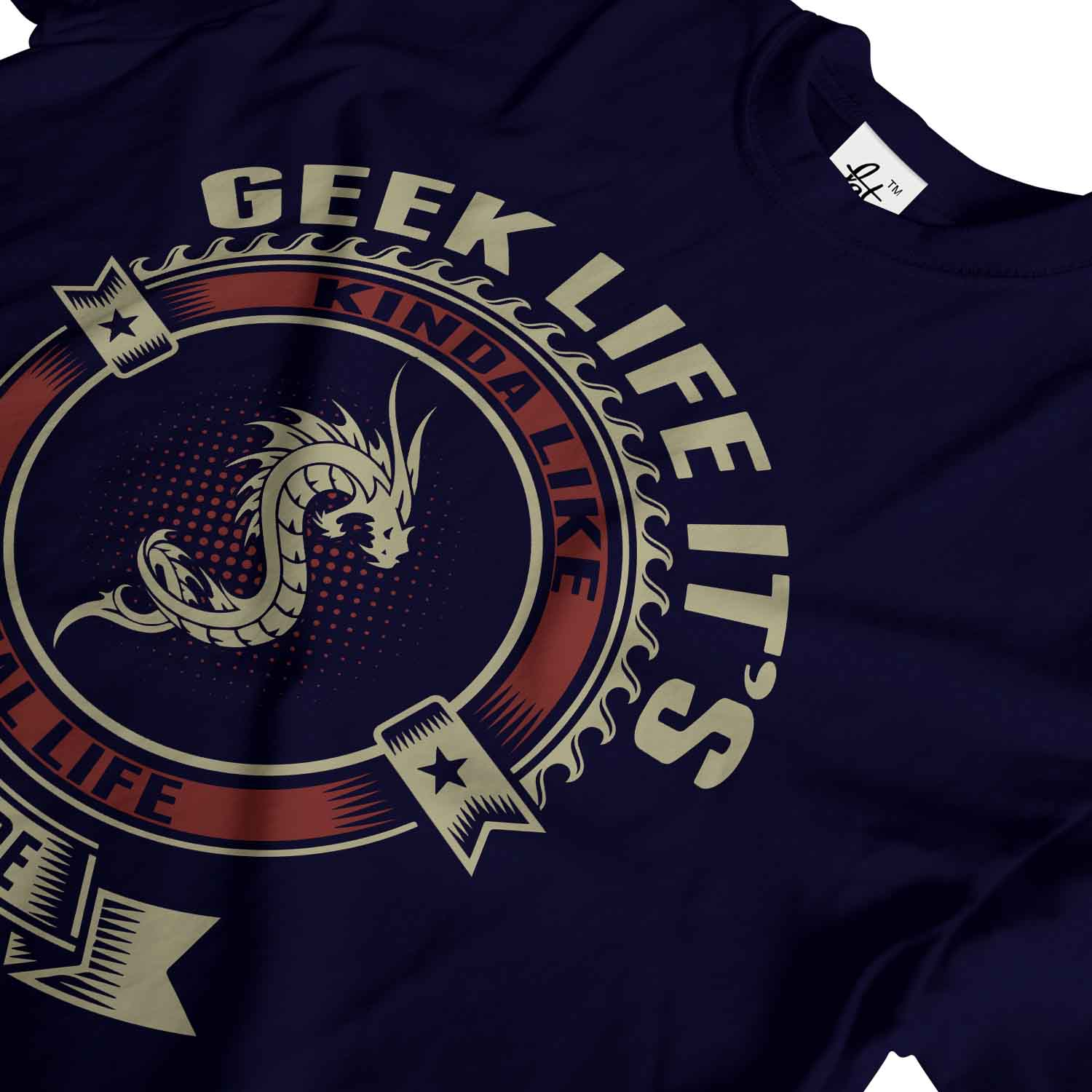 Geek-Life-It-039-s-Like-Real-Life-But-There-Are-Dragons-Mens-T-Shirt 縮圖 13